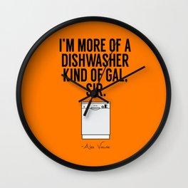 A Dishwasher Kind of Gal (3) Wall Clock