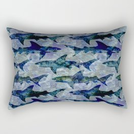Deep Water Sharks Rectangular Pillow