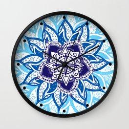 Atlantean Voyage Blue Wall Clock