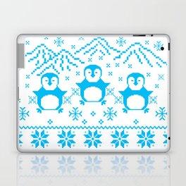 Cute Blue Scandinavian Penguin Holiday Design Laptop & iPad Skin