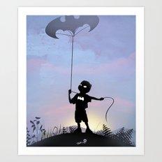 Bat Kid Art Print