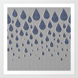 Crystallised rain drops Art Print