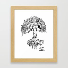 honor your roots Framed Art Print