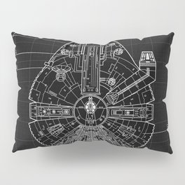 Millennium Falcon Blueprint Pillow Sham