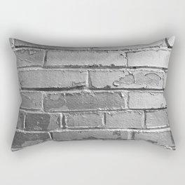 Silver Bricks Wall Rectangular Pillow