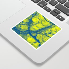 Abstract - in yellow & green Sticker