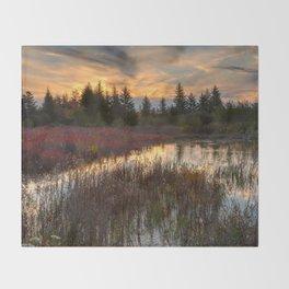 Autumn Dolly Sods Sunset Throw Blanket
