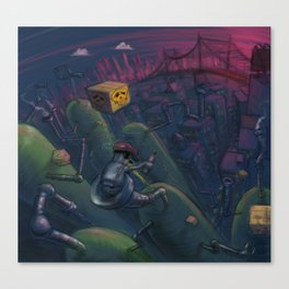 beepo takes a pipe to nowhere Canvas Print