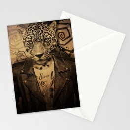 Animal tee vintage graphic design Stationery Cards