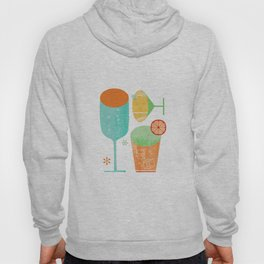 Pour & Drink (Blue) Kitchen or Bar Art Hoody
