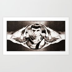 Escher Inspired Spock (Star Trek) Art Print