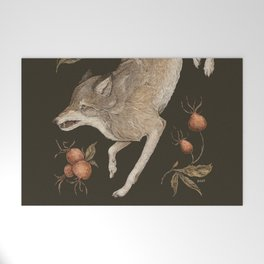 The Wolf and Rose Hips Welcome Mat