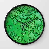 ruben ireland Wall Clocks featuring Ireland by Andrea Gingerich