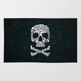 Skull Dogs Halloween Rug