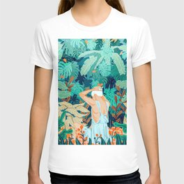 Backyard #illustration #painting T-shirt