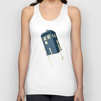 doctor Tank Tops featuring Time to Fly by Danny Haas