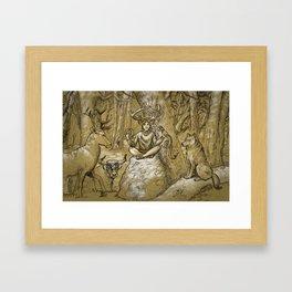 Cernunnos (monochrome) Framed Art Print