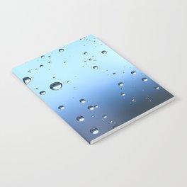Raindrop on window Notebook