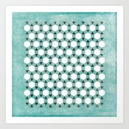 Triangle Hive Art Print