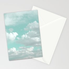 Clouds in a Mint Sky Stationery Cards