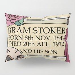 Remember Bram Stoker - Golders Green Crematorium - Dracula Pillow Sham