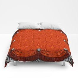 Skeleton Damask - red Comforters