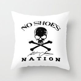 chesney no shoes nation kenny  Throw Pillow