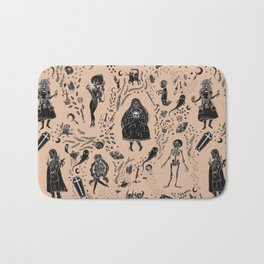 Creatures of the Night (orange) Bath Mat