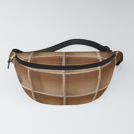 Empty wooden cabinet with cells Fanny Pack