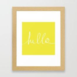 Hello x Sunshine Framed Art Print