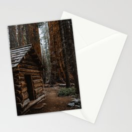 Log Cabin in the Giant Forest Stationery Cards