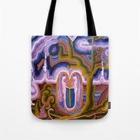 paradise Tote Bags featuring Paradise by CrismanArt
