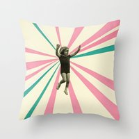 play Throw Pillows featuring Play by Cassia Beck