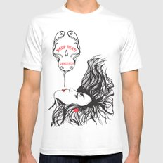 drop dead gorgeous Mens Fitted Tee White MEDIUM