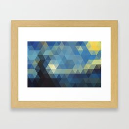 Starry Night Mosaic Framed Art Print