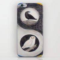 yin yang iPhone & iPod Skins featuring  Yin & Yang  by Owl Art Suri