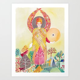 Archangel Uriel Art Print