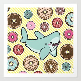 Drooling over Donuts Art Print