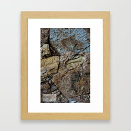 Color Rock Framed Art Print