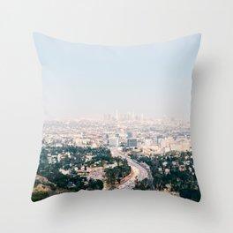 Pink LA Throw Pillow