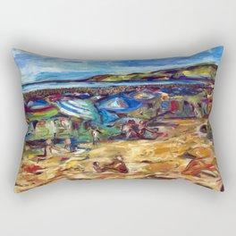 """""""Ogunquit Beach"""" Rectangular Pillow"""