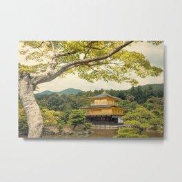 The Golden Temple (Kinkaku-ji) Metal Print
