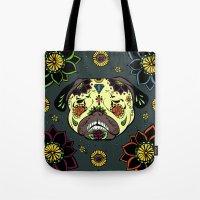 calavera Tote Bags featuring Calavera Paxicana by Huebucket