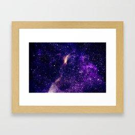 Ultra violet purple abstract galaxy Framed Art Print