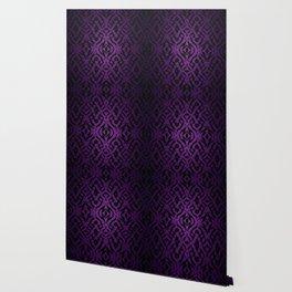 Purple tribal shapes pattern Wallpaper