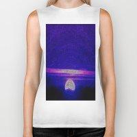 moonrise Biker Tanks featuring Moonrise by RingWaveArt