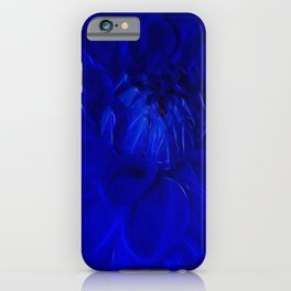 Royal Blue Fractal dahlia iPhone Case