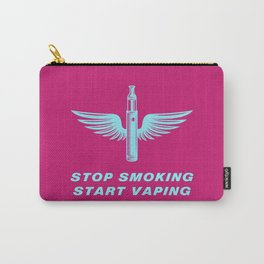 Stop Smoking Start Vaping 80s Vaping Carry-All Pouch