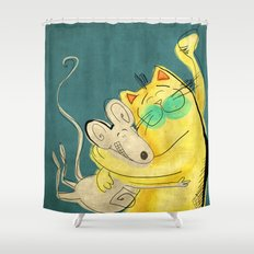 Lets be Friends Shower Curtain