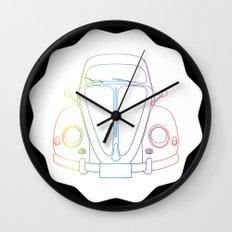 Rainbow Beetle Wall Clock